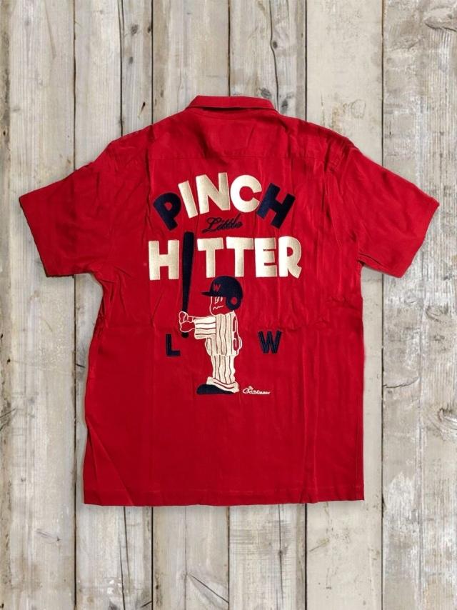ボーリングシャツ(PINCH LITTLE HITTER/赤)