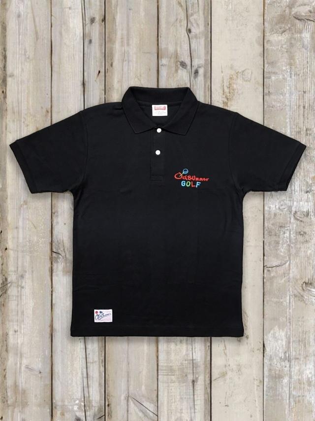 オールドサマーゴルフポロシャツ(黒)