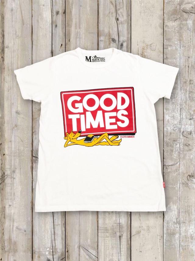 クルーネックTシャツ(GOOD TIMES)