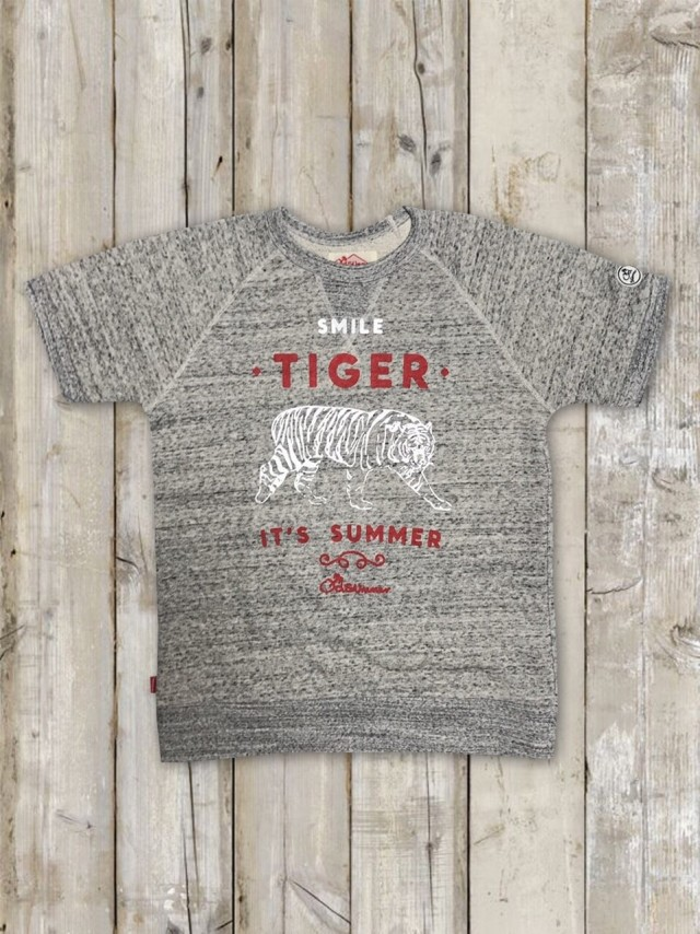 半袖トレーナー(TIGER/ミックスグレー)