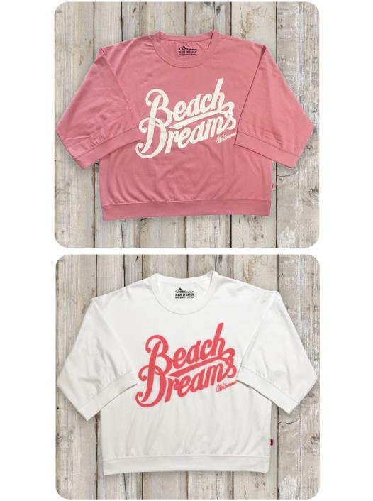 レディース七分丈ワイドスリーブTシャツ(Beach Dreams)