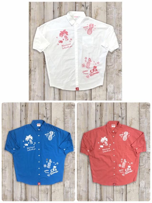 レディースプリントシャツ