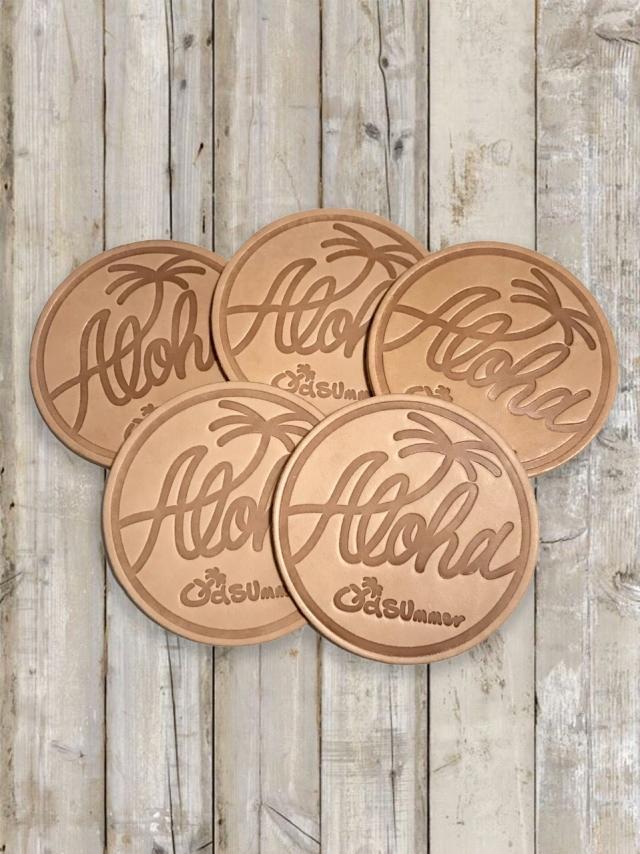 Leather Coaster(レザーコースター)5個セット