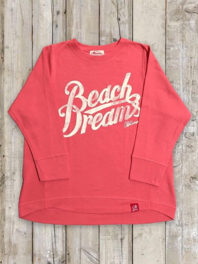 レディースたっぷりロンT(Beach Dreams/ピンク)