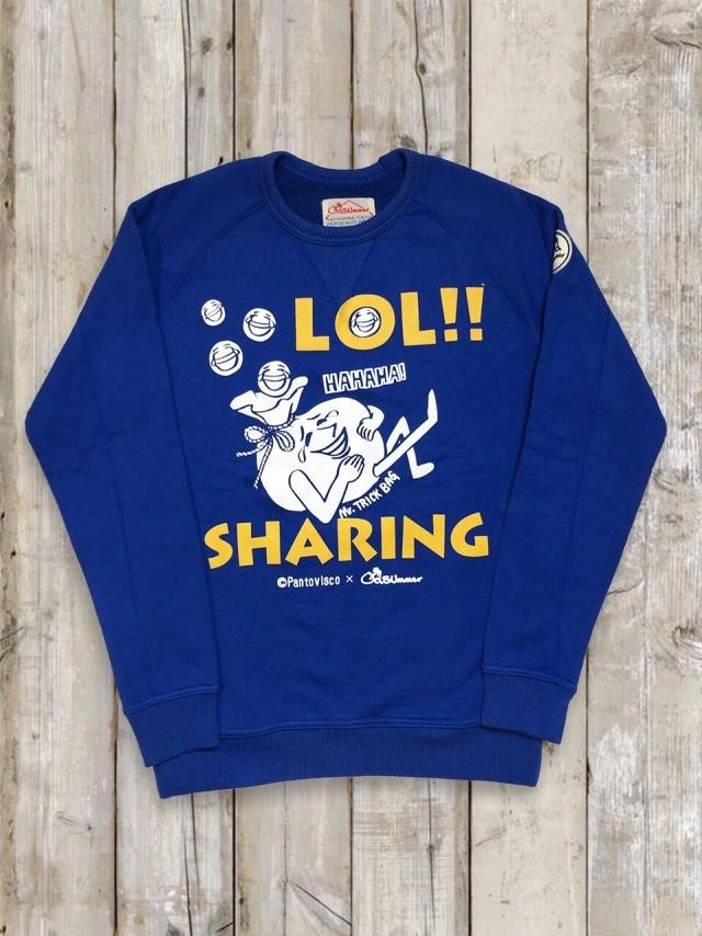 トレーナー(LOL!!SHARING/青)
