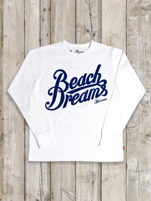 クルーネックロングスリーブTシャツ(Beach Dreams)