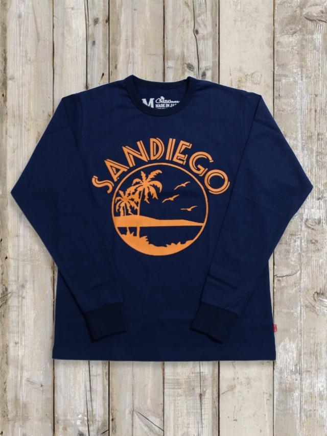 クルーネックロングスリーブTシャツ(SANDIEGO/紺)