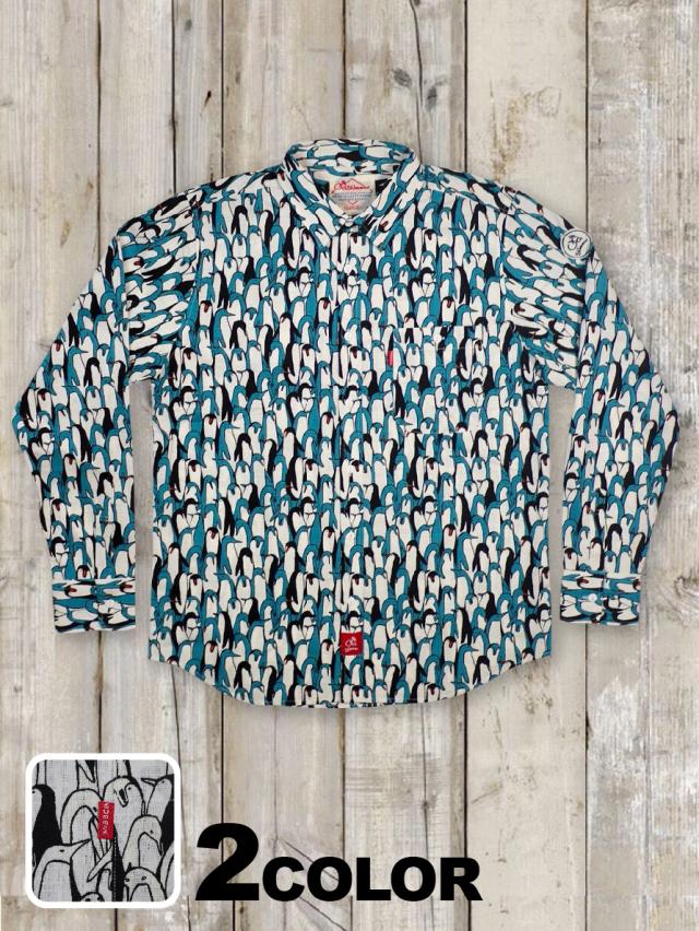 長袖シャツ(ペンギン柄)