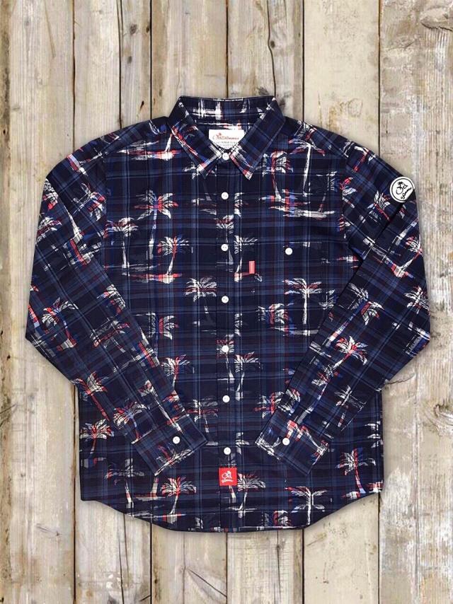 マドラスチェックシャツ(ヤシの木)