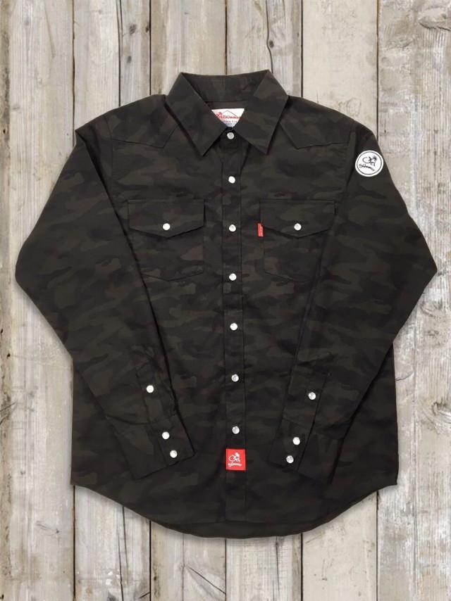 迷彩ウエスタンシャツ(黒)