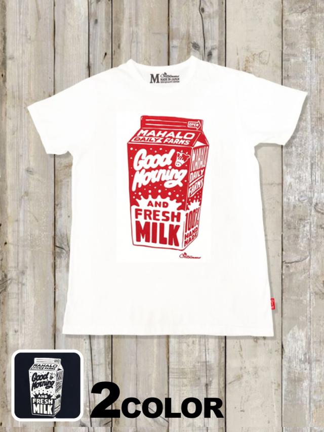 クルーネックTシャツ(FRESH MILK)