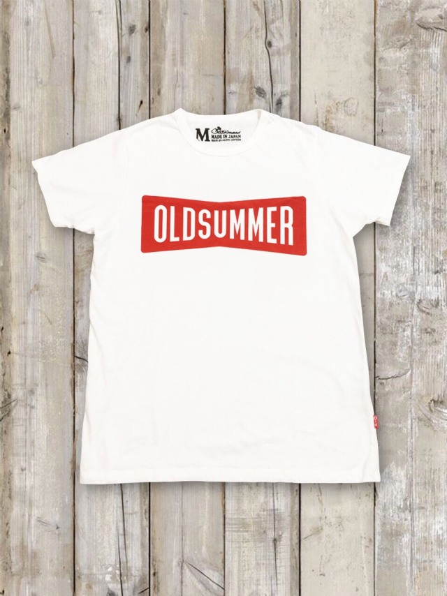 クルーネックTシャツ(RIBBON LOGO/WHITE×RED)