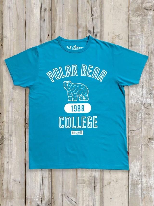 クルーネックTシャツ(POLAR BEAR/ターコイズ)