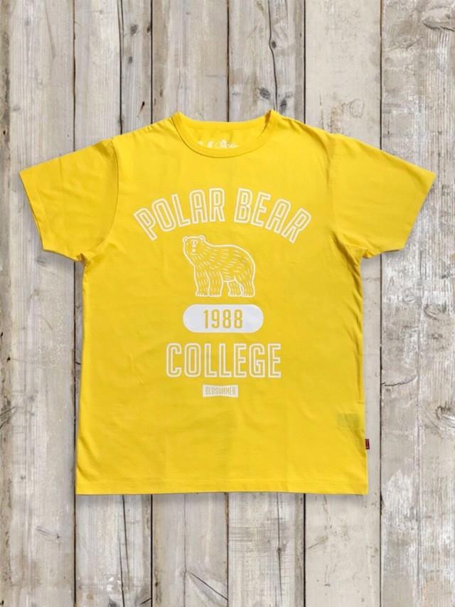 クルーネックTシャツ(POLAR BEAR/イエロー)