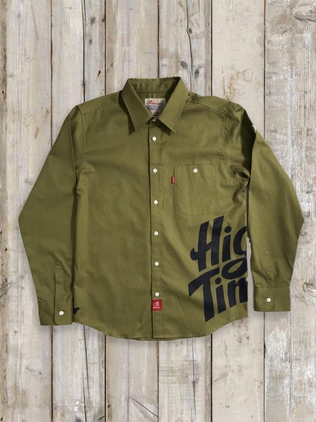 プリントシャツ(High Times/カーキ)