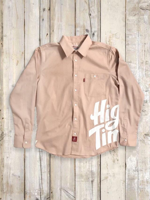 プリントシャツ(High Times/ピンク)
