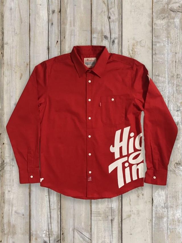 プリントシャツ(High Times/赤)