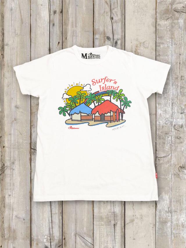 クルーネックTシャツ(Surfer's Island)