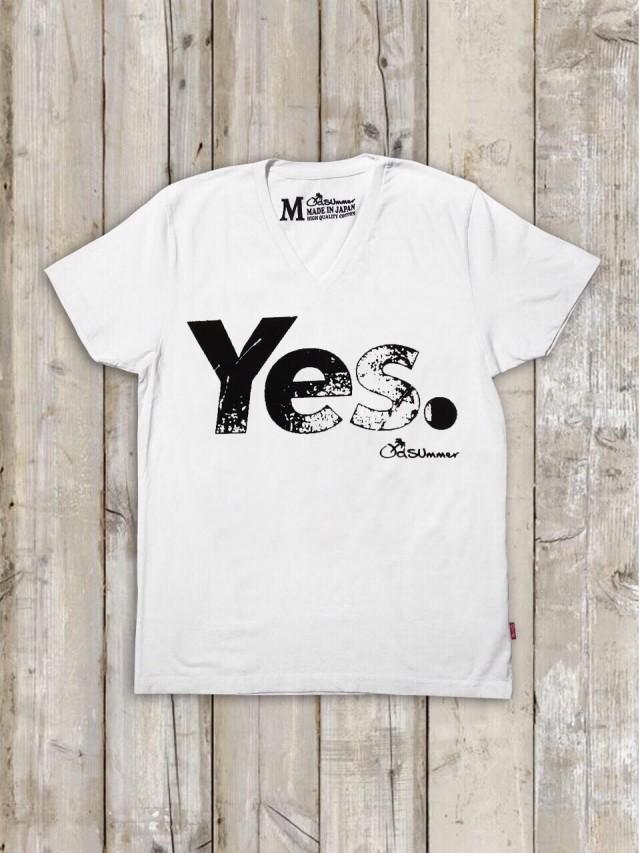 VネックTシャツ(Yes.)