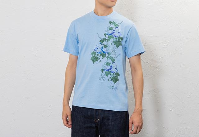 北斎Tシャツ朝顔
