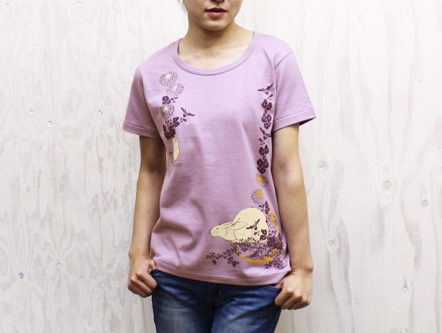 北斎Tシャツ|月兎