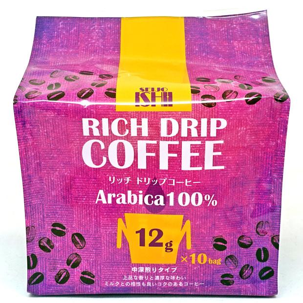 成城石井 リッチドリップコーヒー 120g(12g×10袋)【レギュラーコーヒー(粉)】