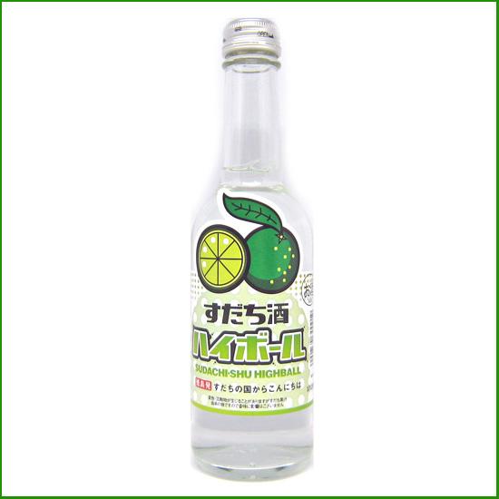 すだち酒 ハイボール 250ml瓶【本家松浦酒造場 】