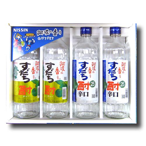 阿波の香り すだち酎720ml 4本セット【日新酒類 】