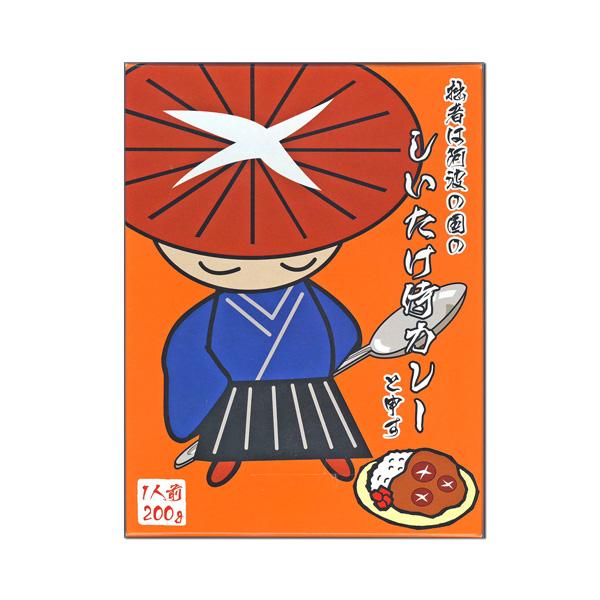 しいたけ侍カレー箱入【徳島のご当地カレー】