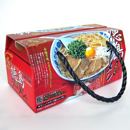 八百秀 徳島ラーメン 4食BOX箱