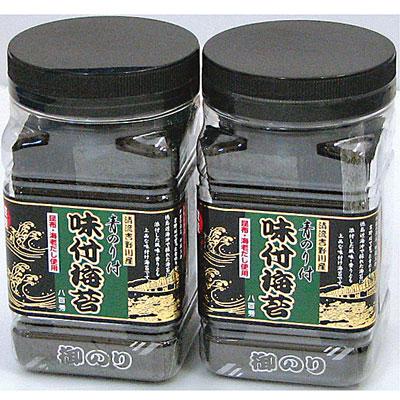 八百秀 青のり付 味付海苔 角瓶 (8切64枚入)一本