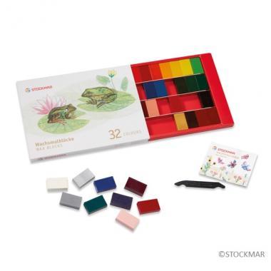 みつろうブロッククレヨン32色 紙箱のイメージ1