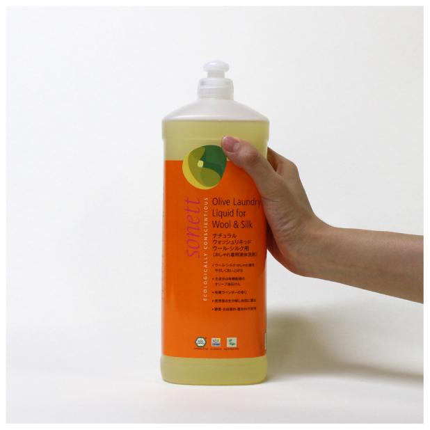 ナチュラルウォッシュリキッド ウール・シルク用(おしゃれ着用液体洗剤) 1Lのイメージ3