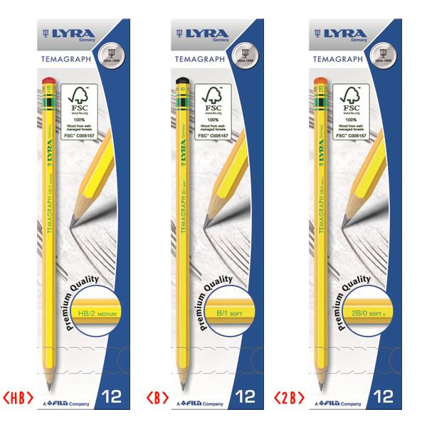 テマグラフ鉛筆 12本入りのイメージ2
