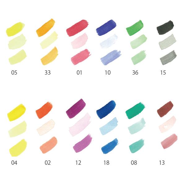 水彩絵の具13色缶◆のイメージ3