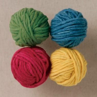 草木染め毛糸4色セット 基本色のイメージ1