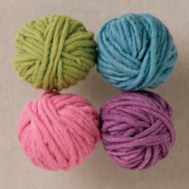 草木染め毛糸4色セット パステル色のイメージ1