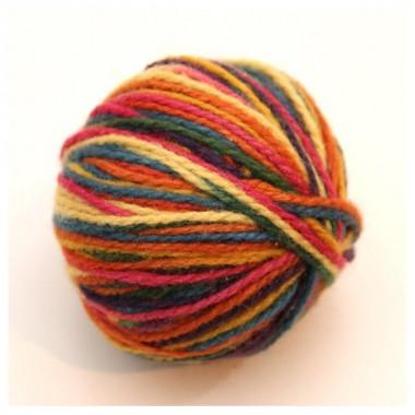 レインボーカラー毛糸草木染 基本色 25gのイメージ1