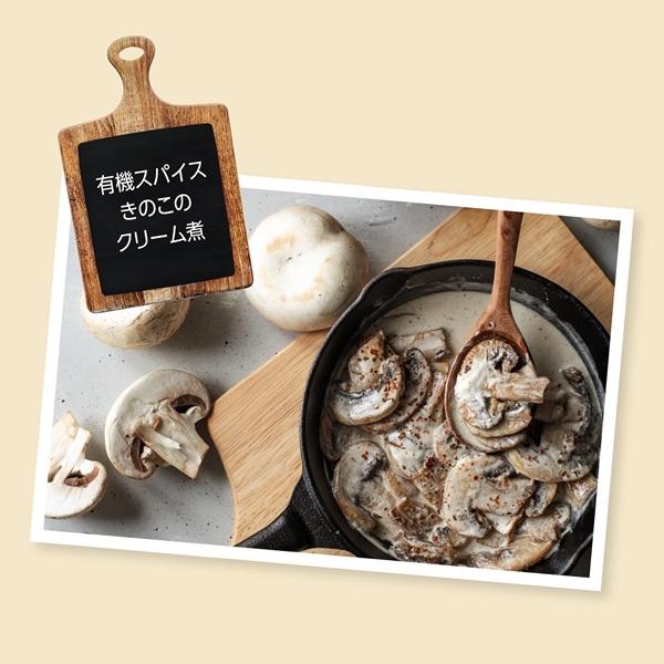 有機スパイス きのこのクリーム煮のイメージ2