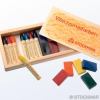 みつろうクレヨン ブロック8色 スティック8色木箱のイメージ3