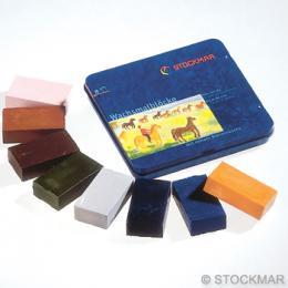 みつろうブロッククレヨン 8色缶(中間色)のイメージ1