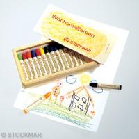 みつろうスティッククレヨン 16色木箱のイメージ3