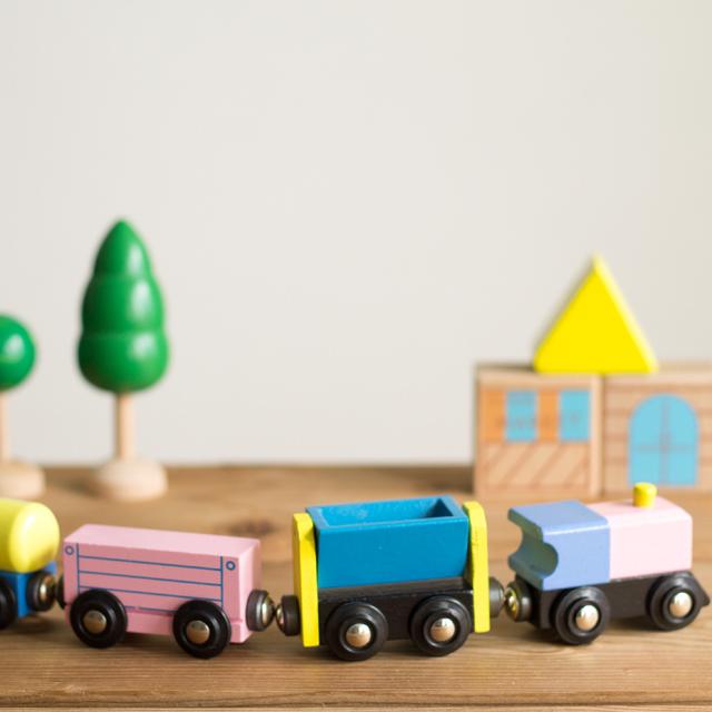 木製貨物車4両パーツ