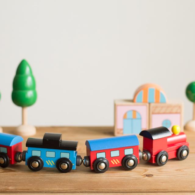 木製汽車4両パーツ