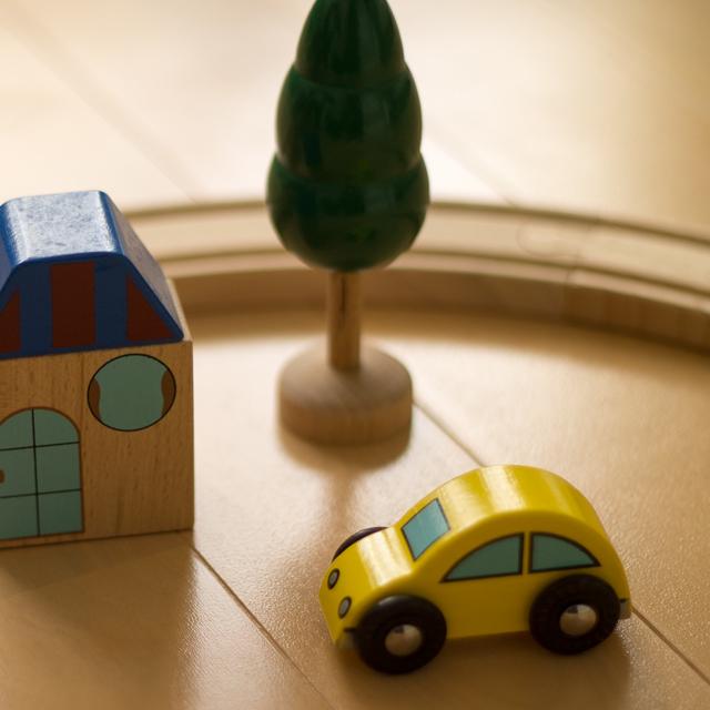 木のおもちゃ汽車セット
