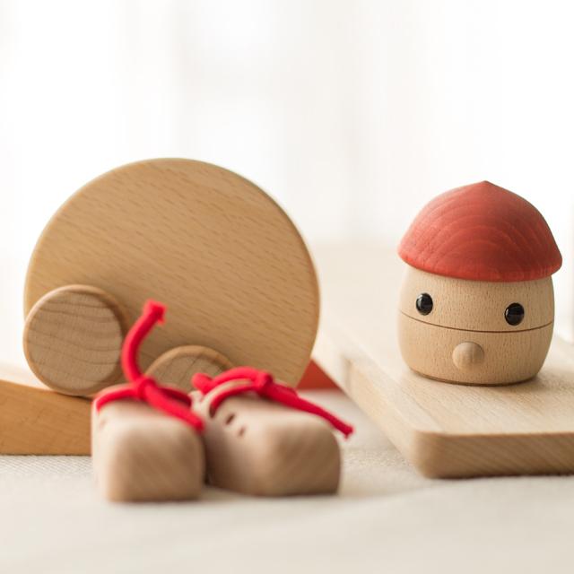 日本製木のおもちゃ出産祝いセット