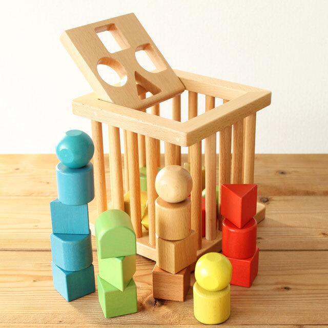 積木バスケット 木製