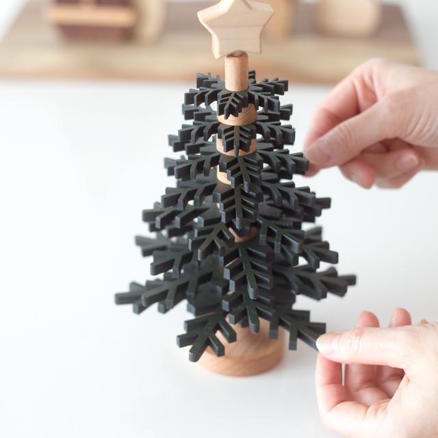 動く木製ツリーパーツ