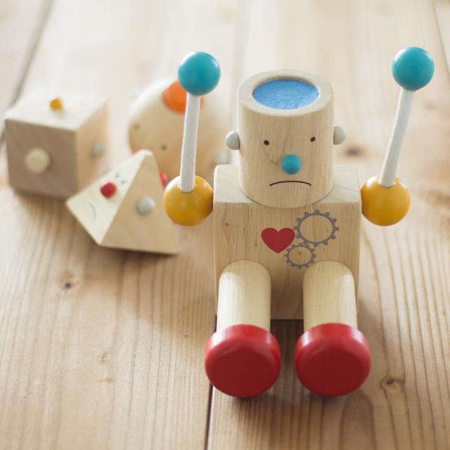 ロボット長丸顔
