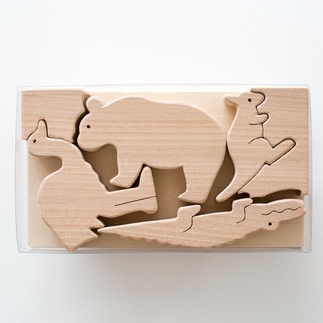 木製パズルくまさんセットメイン